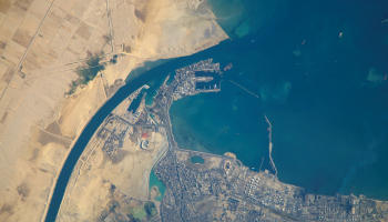 Port of Suez, from the International Space Station