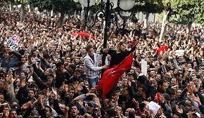 Thousands of Tunisians took to the streets for four continuous weeks of protesting against the president.