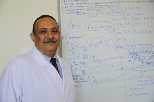 Dr Hassan Azzazy is trying to make diagnostics more affordable.