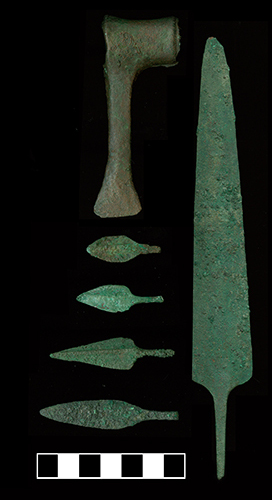 Objects recovered from Salut, a site in Nizwa, Oman.