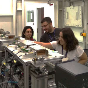 A group of graduate students from Bilkent University's chemistry department (Ankara, Turkey) conducting experiments at the XAFS/XRF beamline at SESAME.