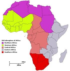 Each of the five regions of Africa will get one campus of the Pan African University.