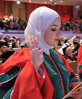 Iqbal El-Assaad during her graduation from WCMC-Q.